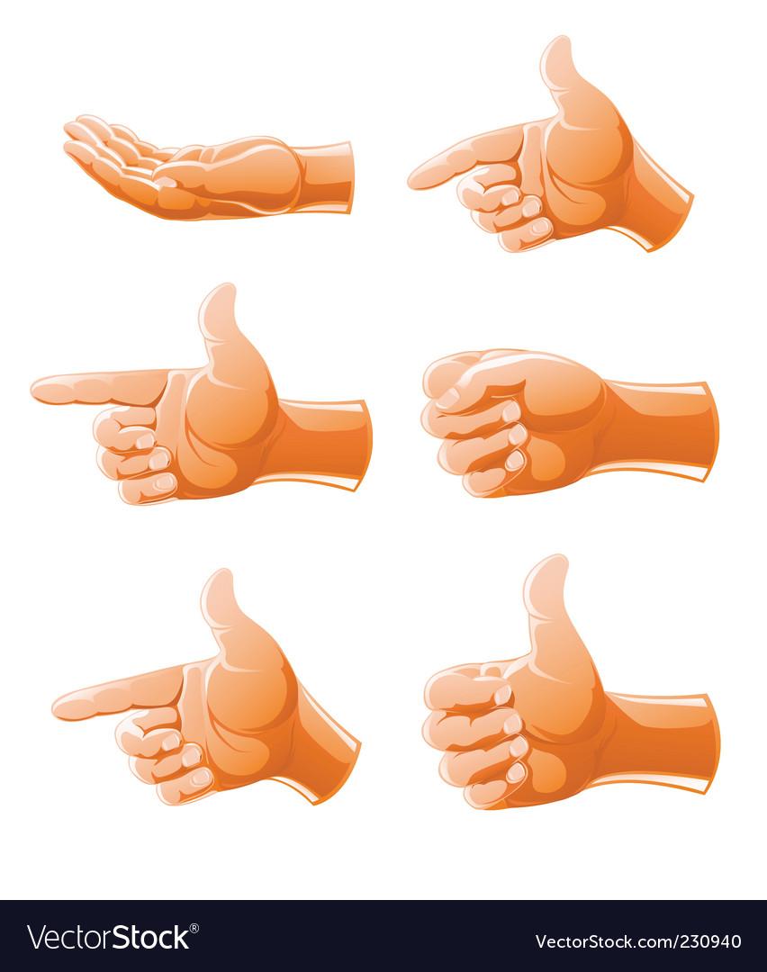 hand gestures royalty free vector image vectorstock