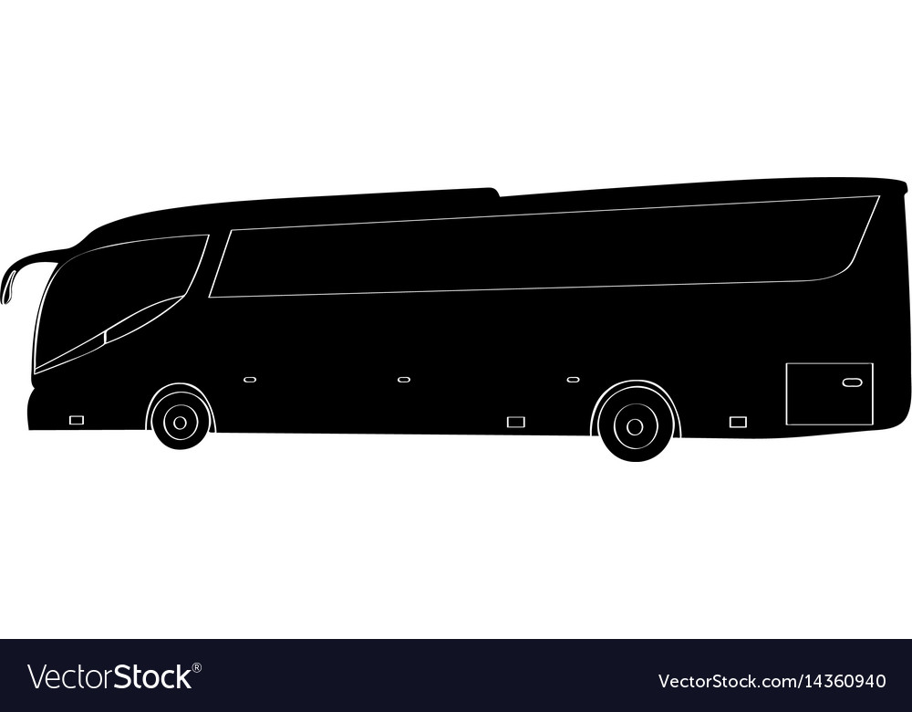 Isolated bus silhouette