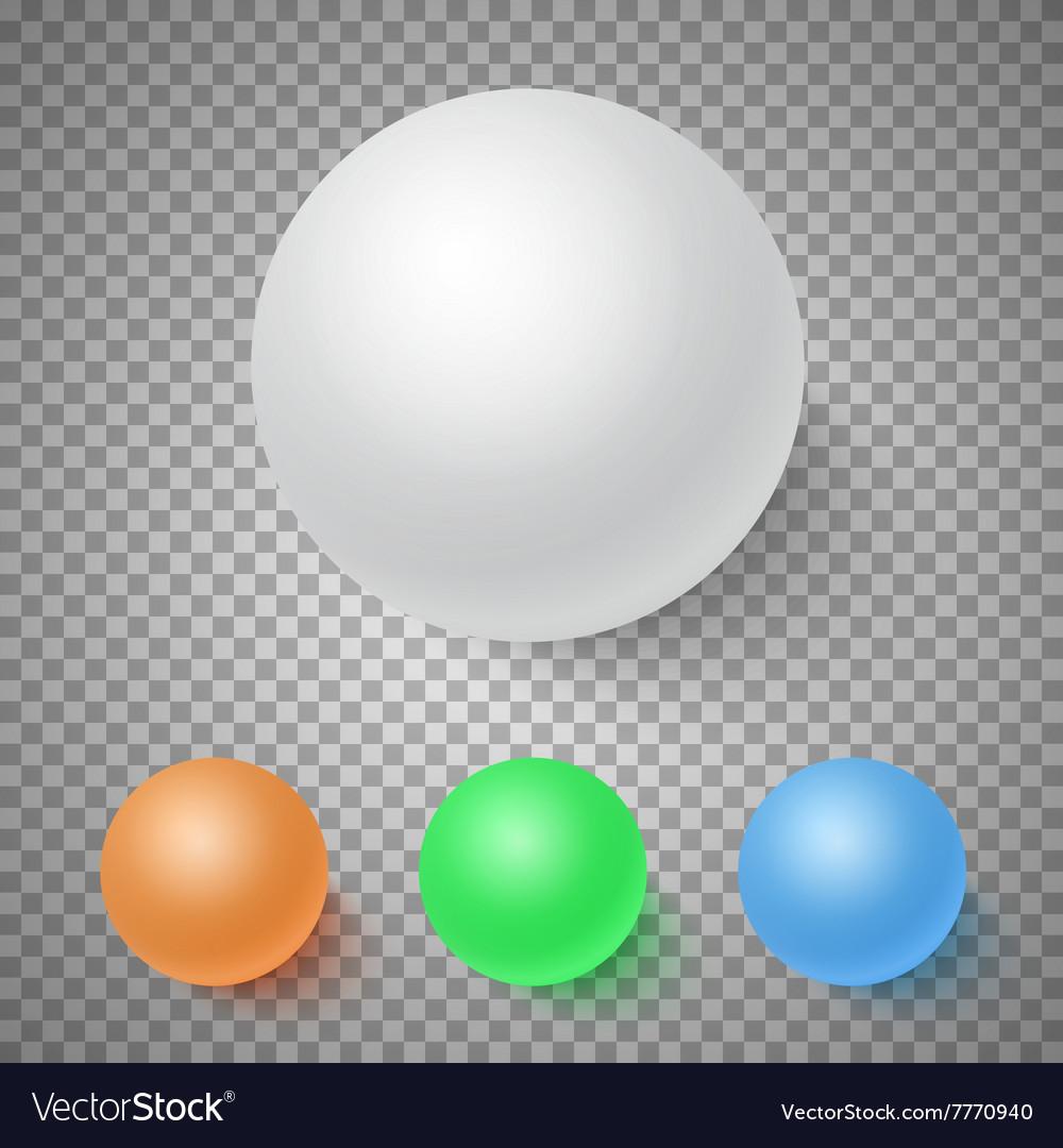 Photorealistic 3D Ball Set Template Bright