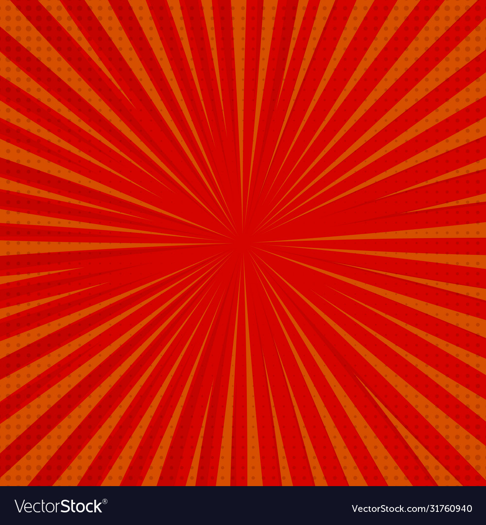 pop art retro comic background lightning blast vector image vectorstock