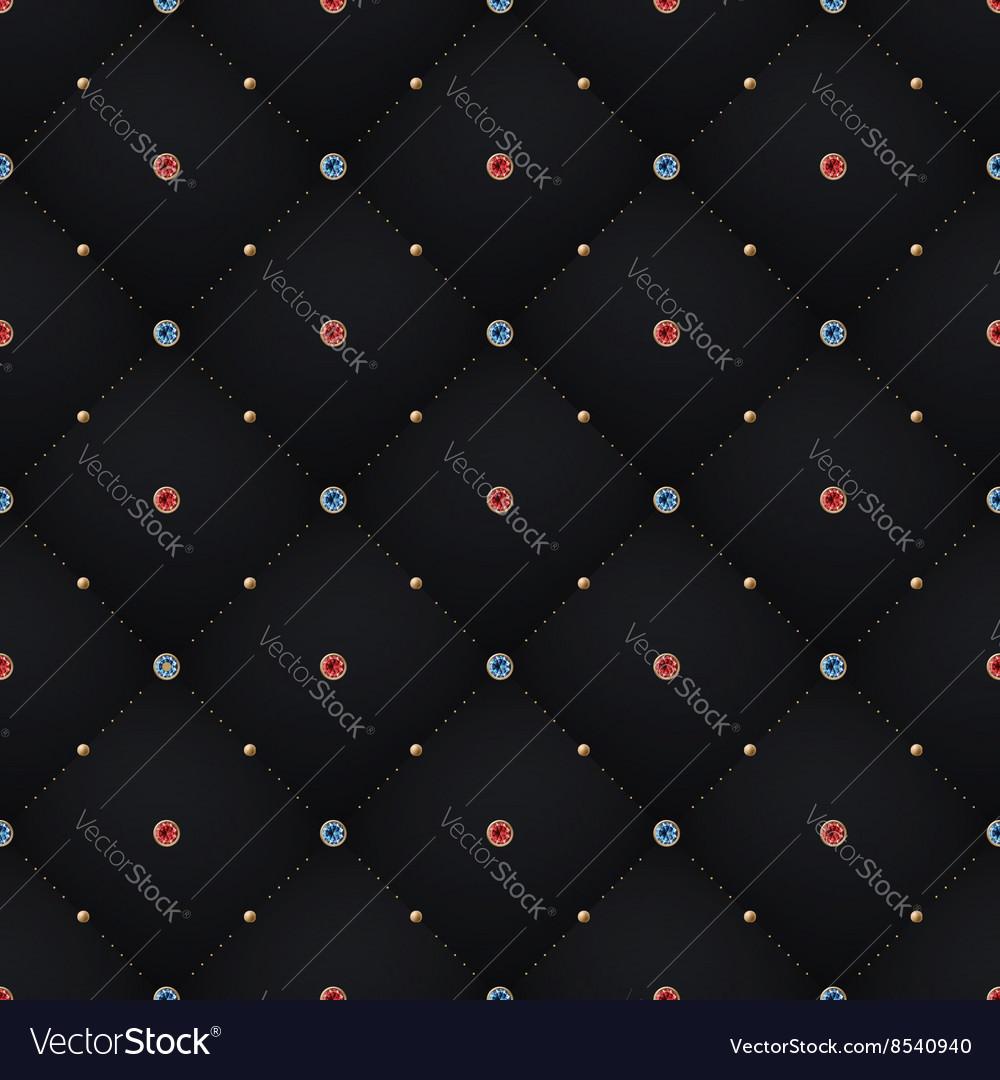 Seamless luxury dark black pattern and background