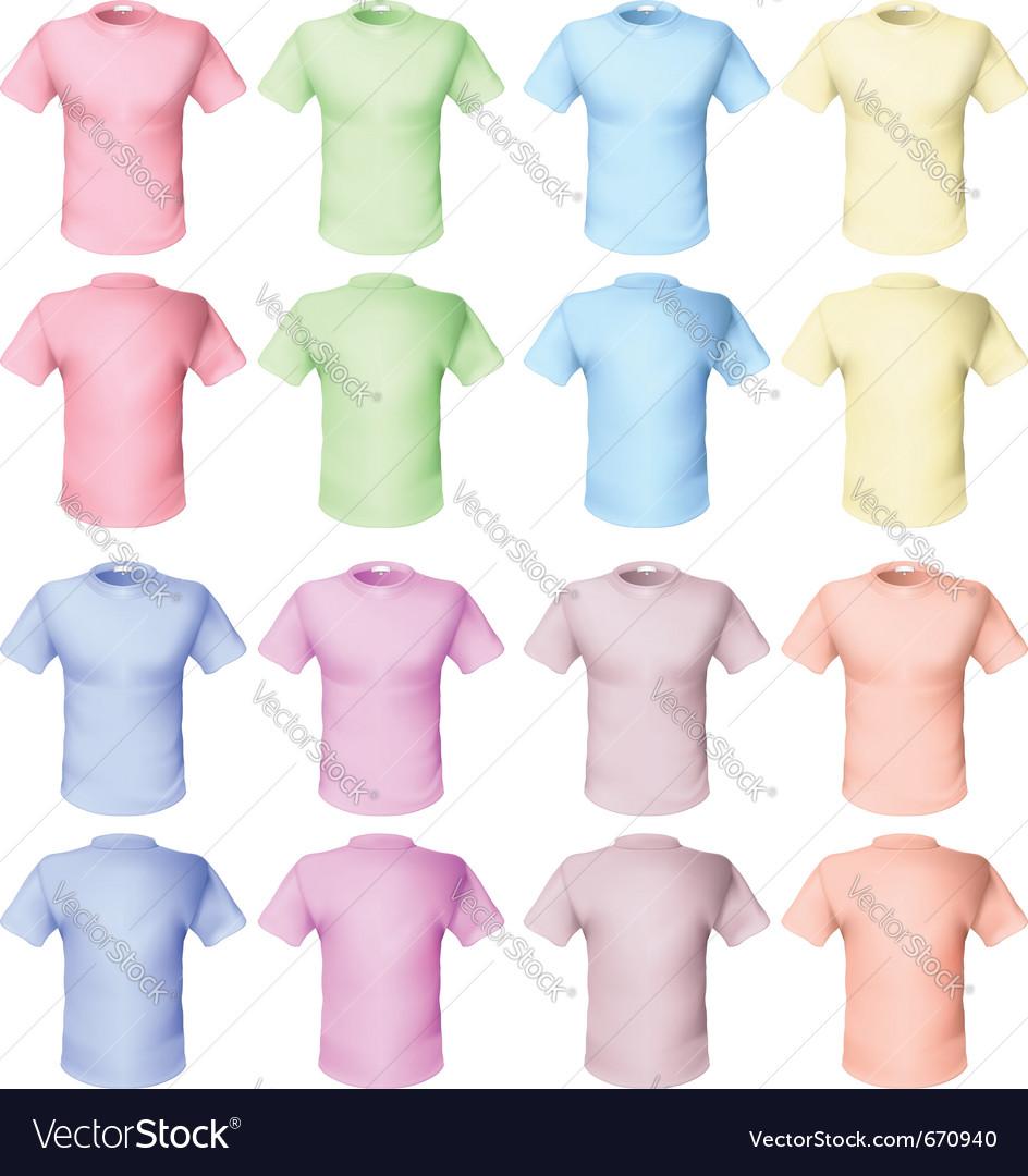 Shirts pale tones