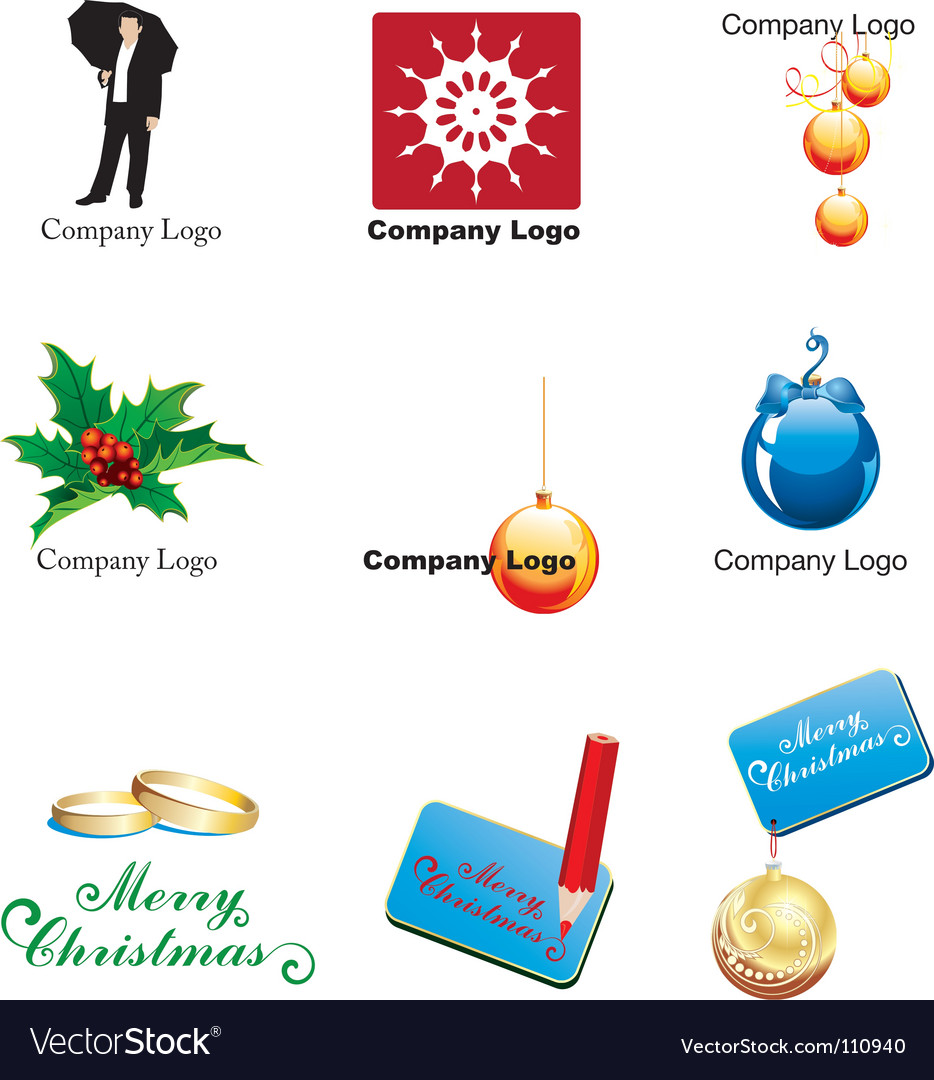 Xmas logos vector image