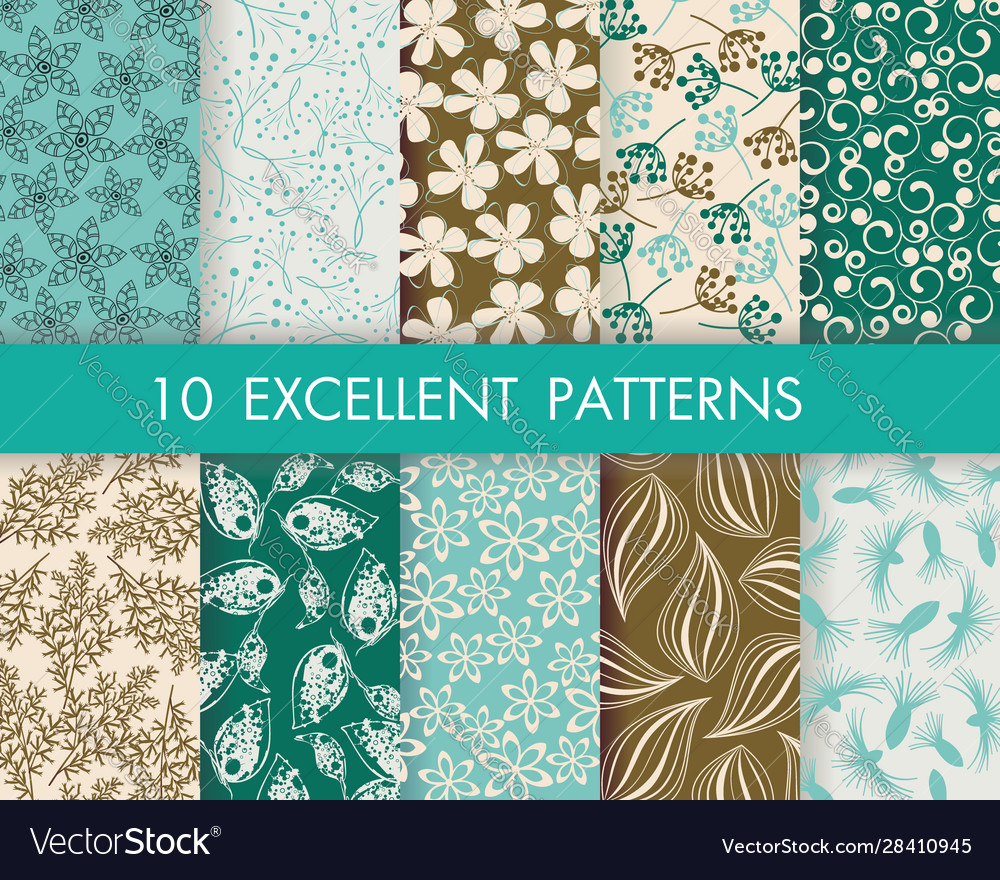 Floral pattern set can be used for wallpaper web