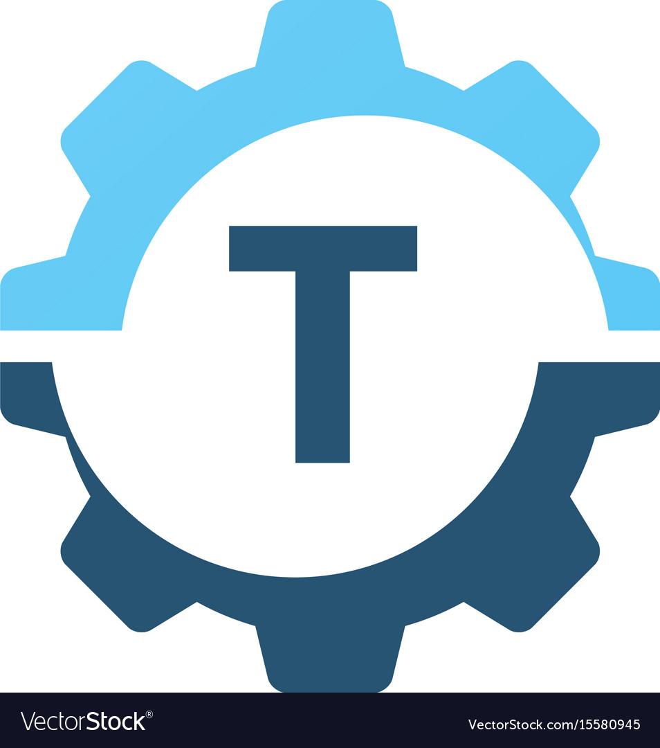 Gear solution logo initial t