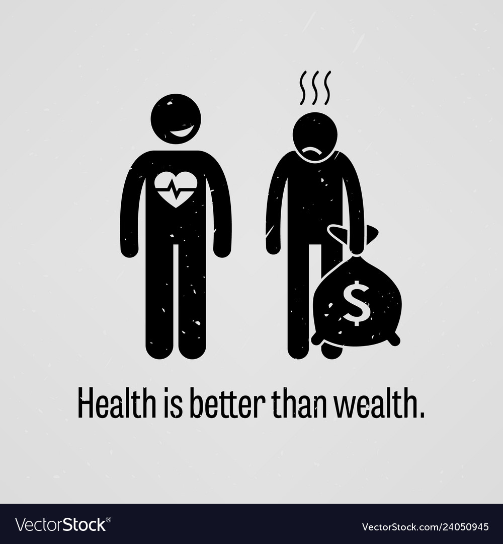 Health Is Wealth Vector Images 37