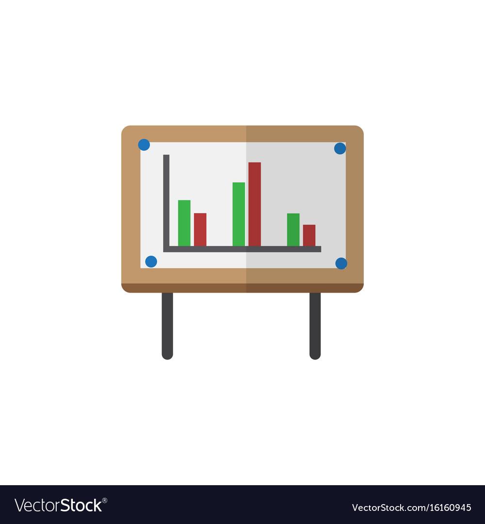 Isolated chart flat icon whiteboard