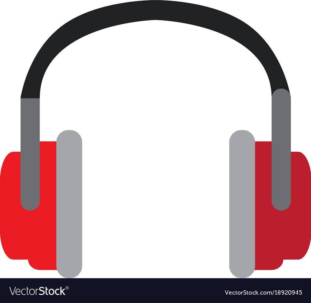 isolated fashion headphones royalty free vector image rh vectorstock com headphones vector illustration headphones vector png
