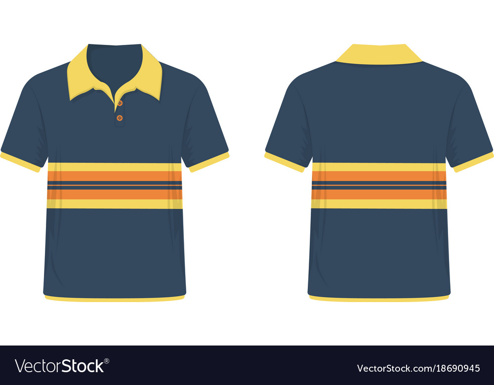a7990c04d T-shirt polo blue and yellow template for design Vector Image
