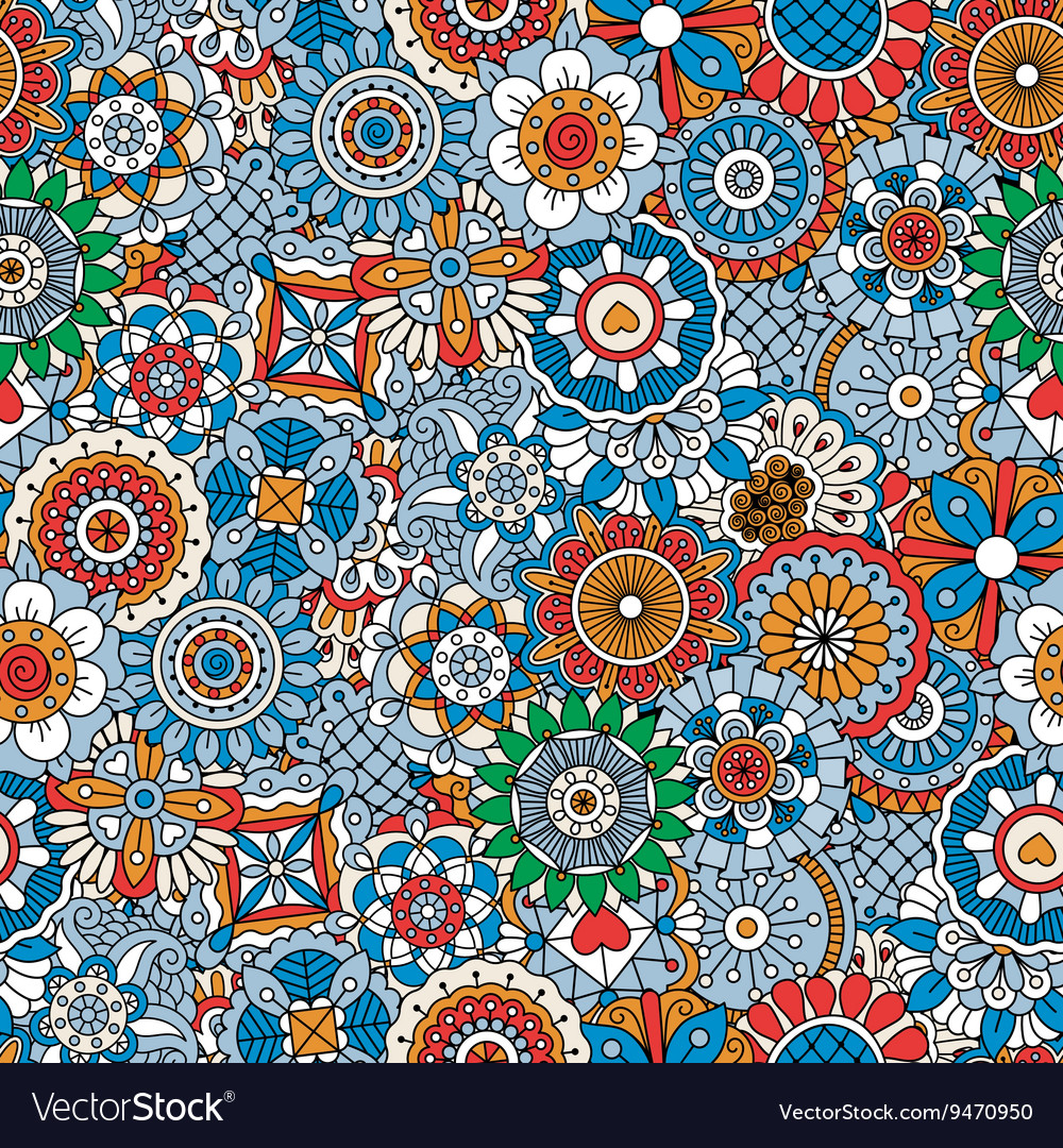 Beautiful Background Composed Of Floral Designs