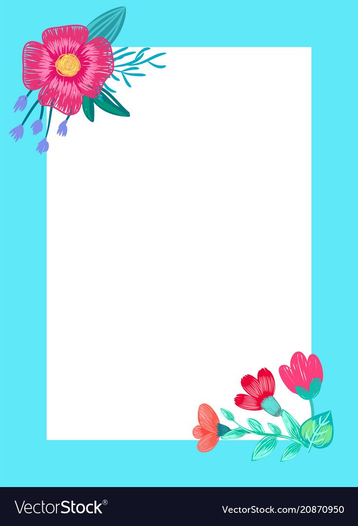 Beautiful frame with flowers