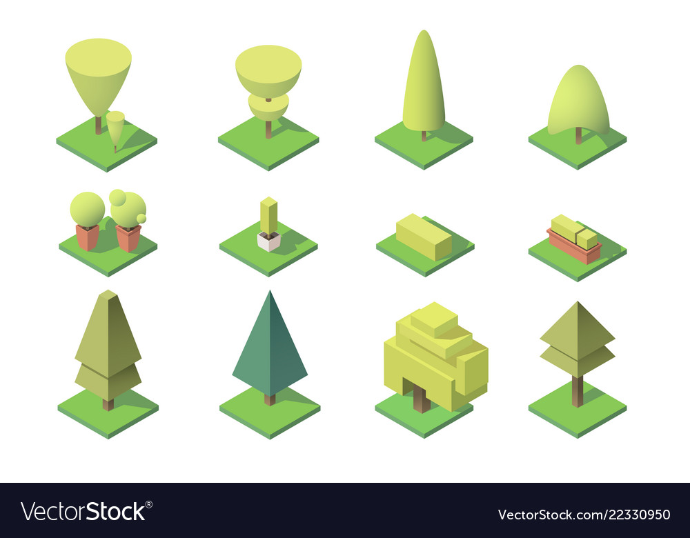 Collection of trees with figures of leaf