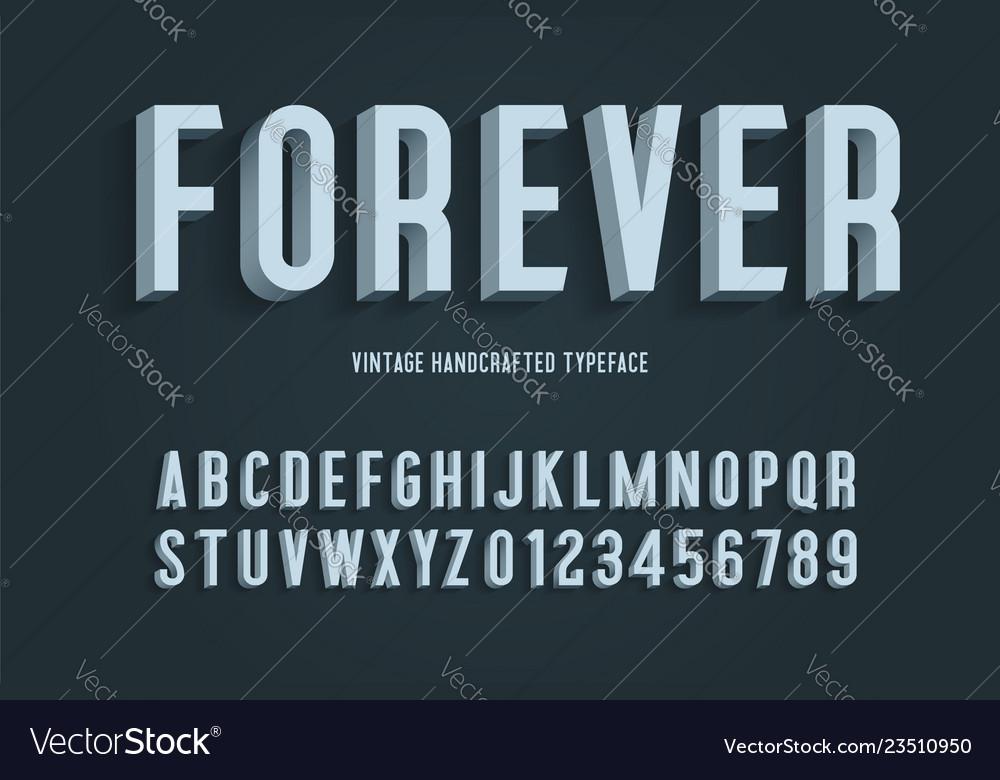 Forever vintage handcrafted 3d alphabet
