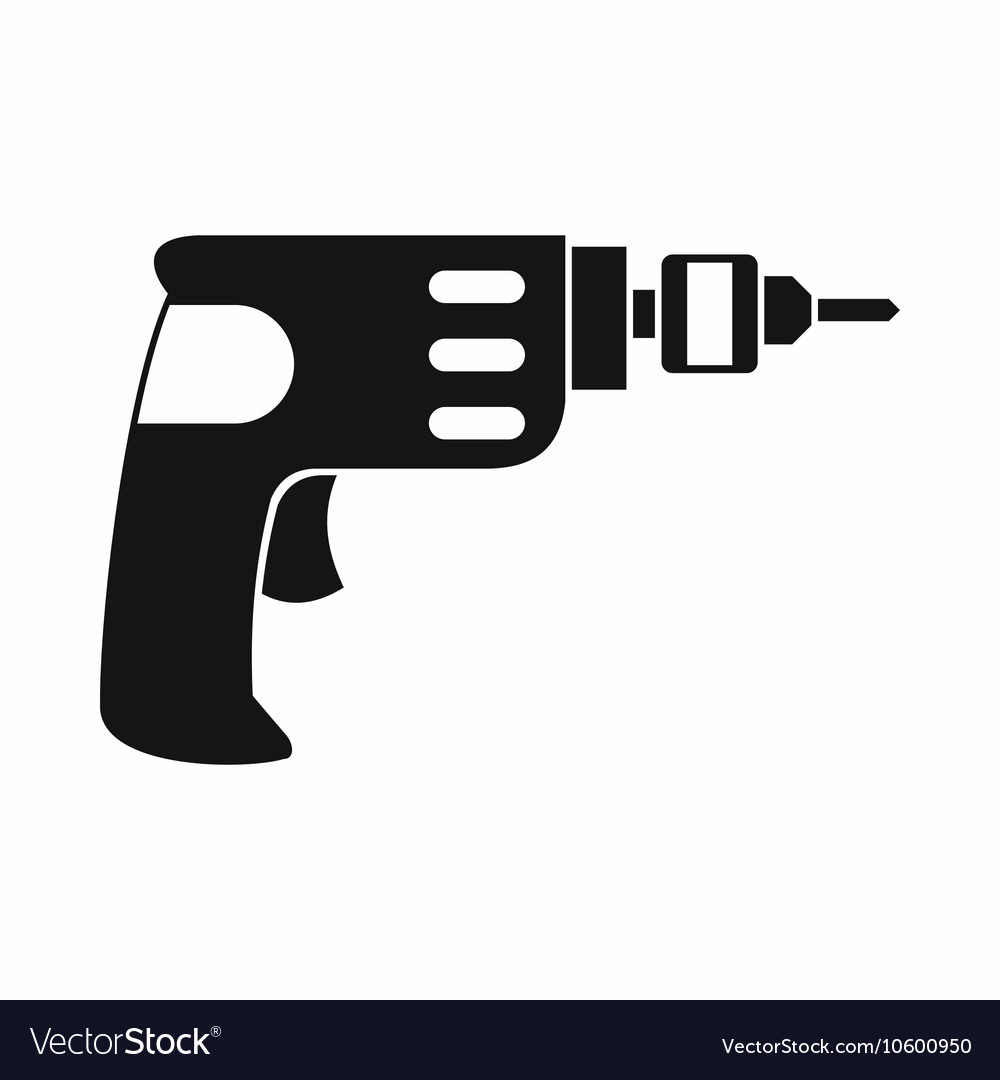 Hand drill icon simple style vector image