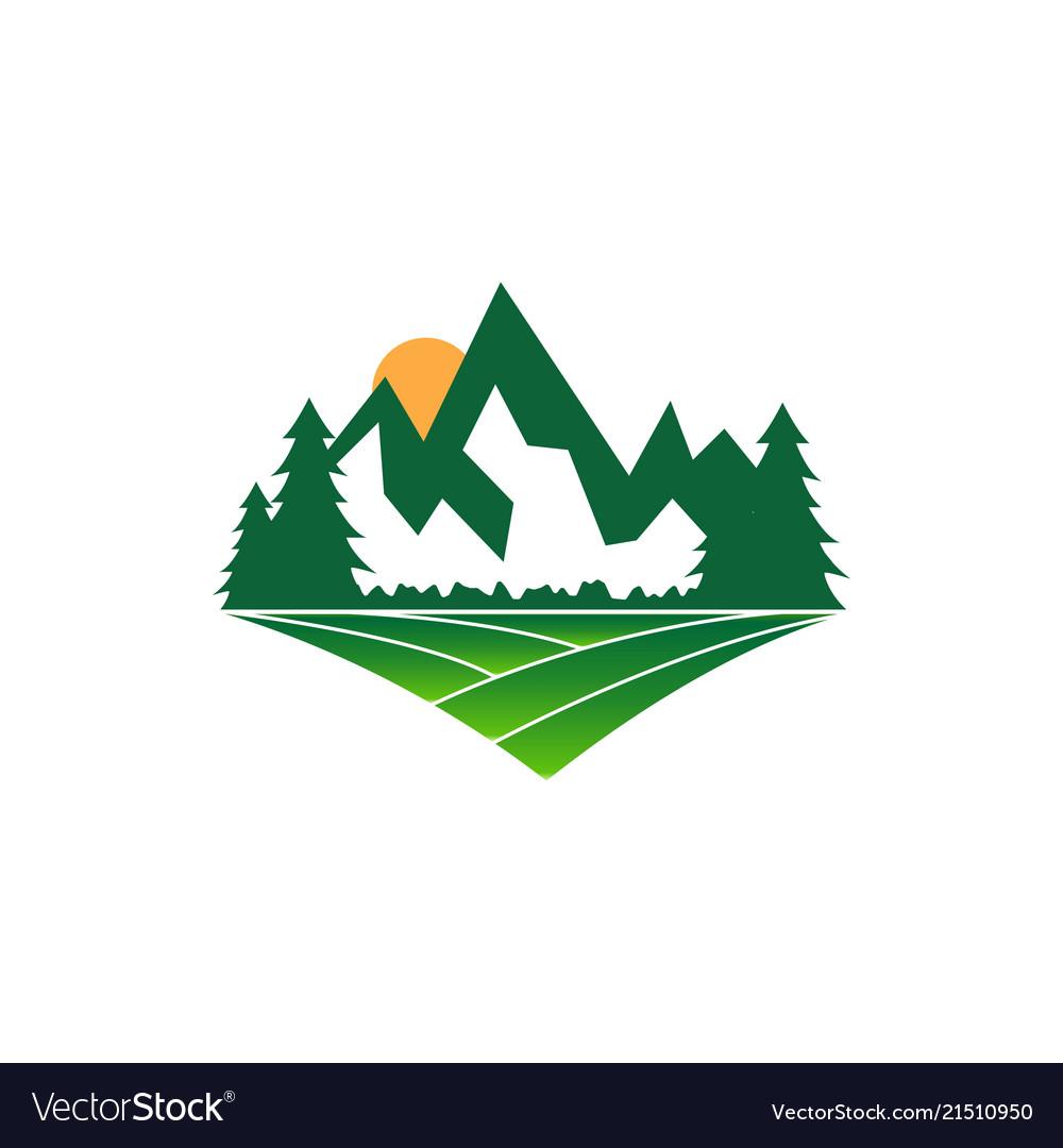 Mountain logo design template