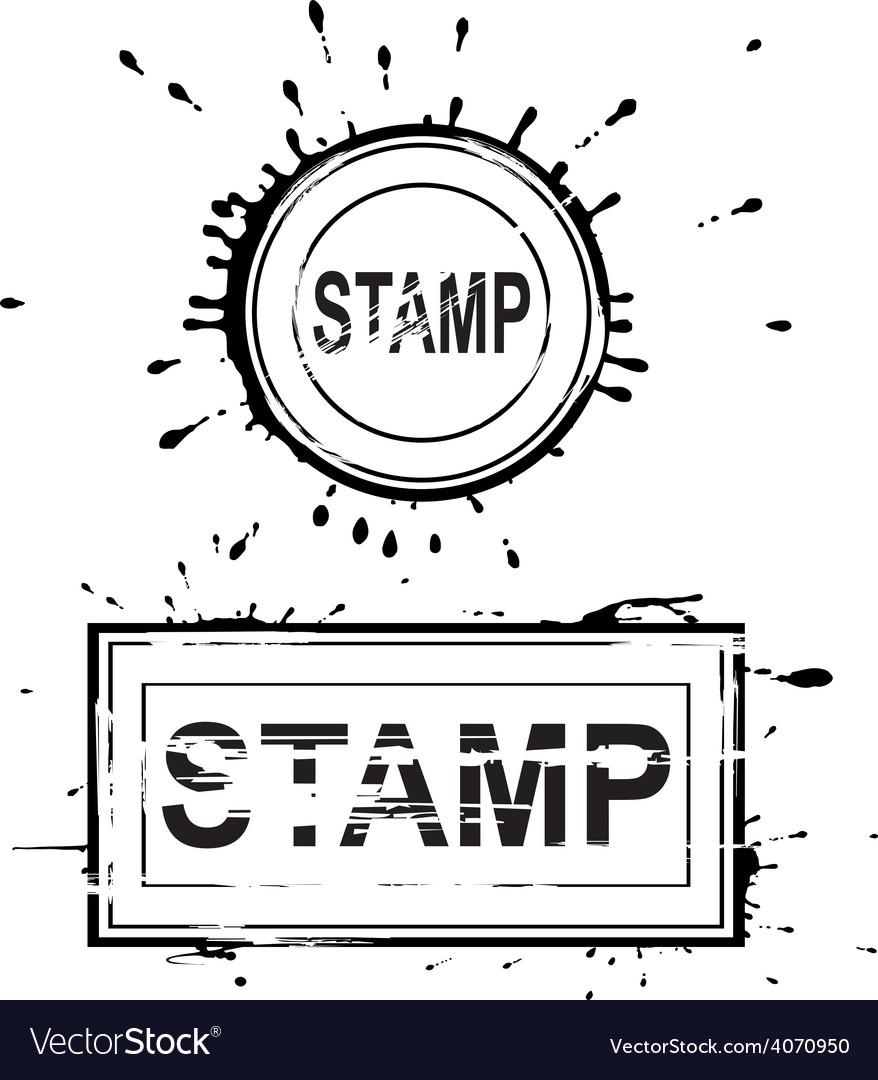 Set grunge distressed stamps