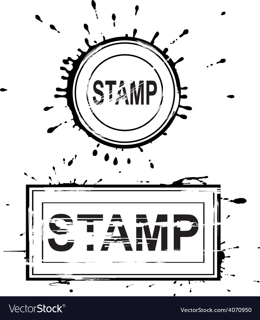 Set of grunge distressed stamps