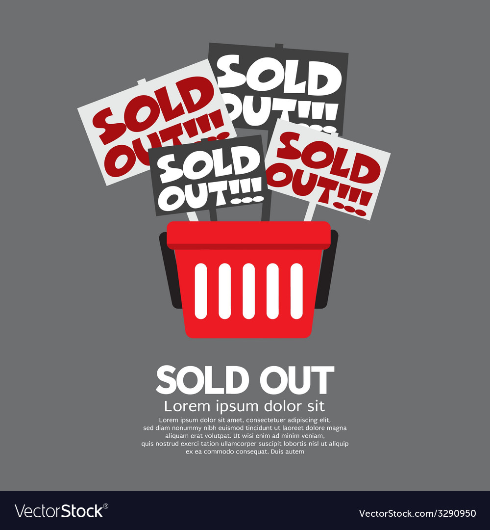 Sold Out Shopping Concept