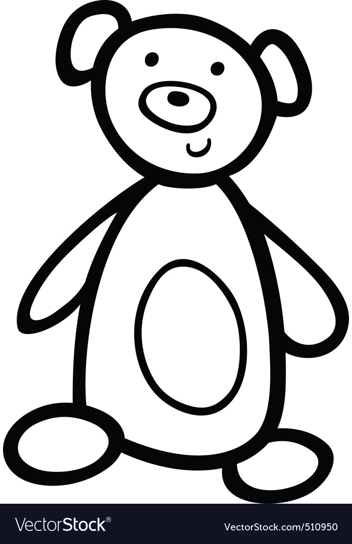 - Teddy Bear For Coloring Book Royalty Free Vector Image