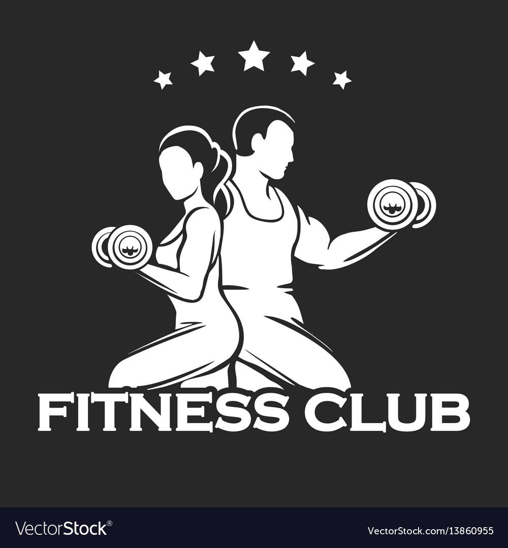 Athletic or fitness club emblem