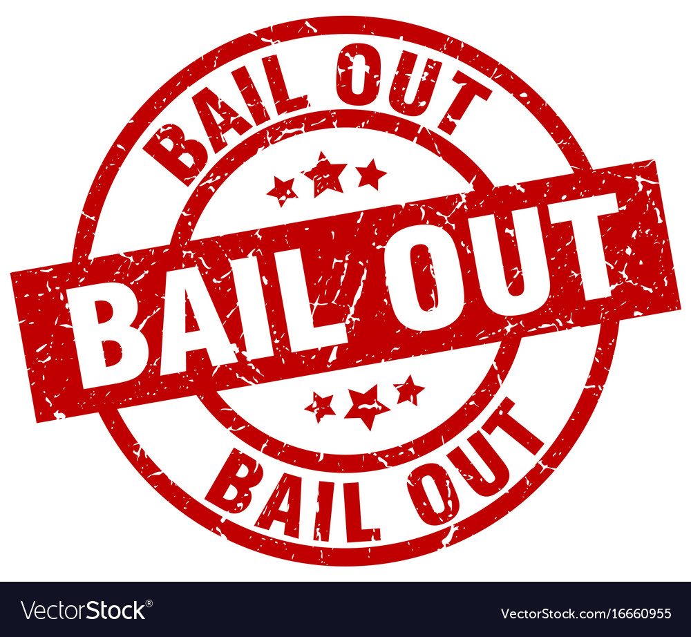Bail out round red grunge stamp vector image