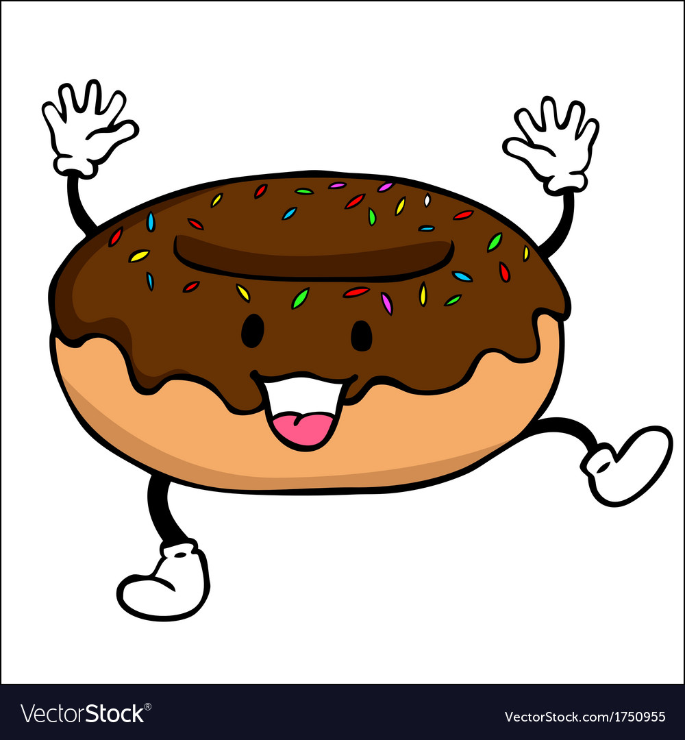 Donut Character vector image