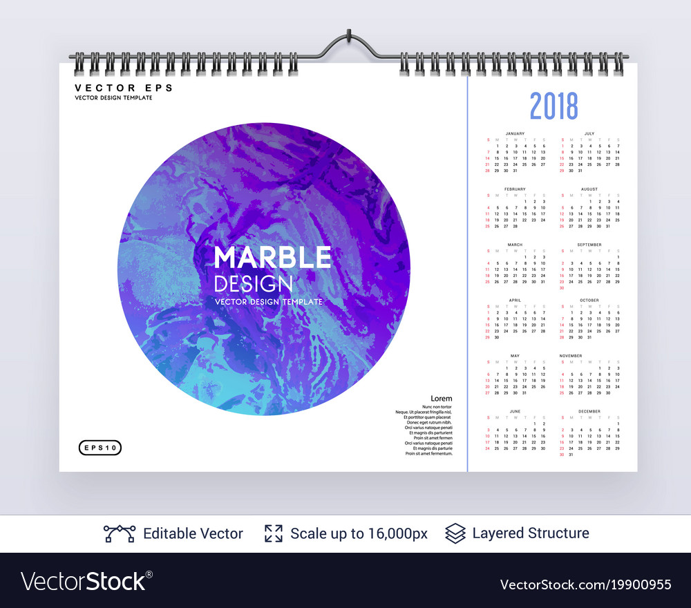 English planning calendar
