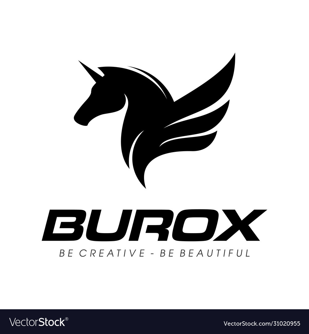 Fly Horse Logo Design Inspiration Royalty Free Vector Image