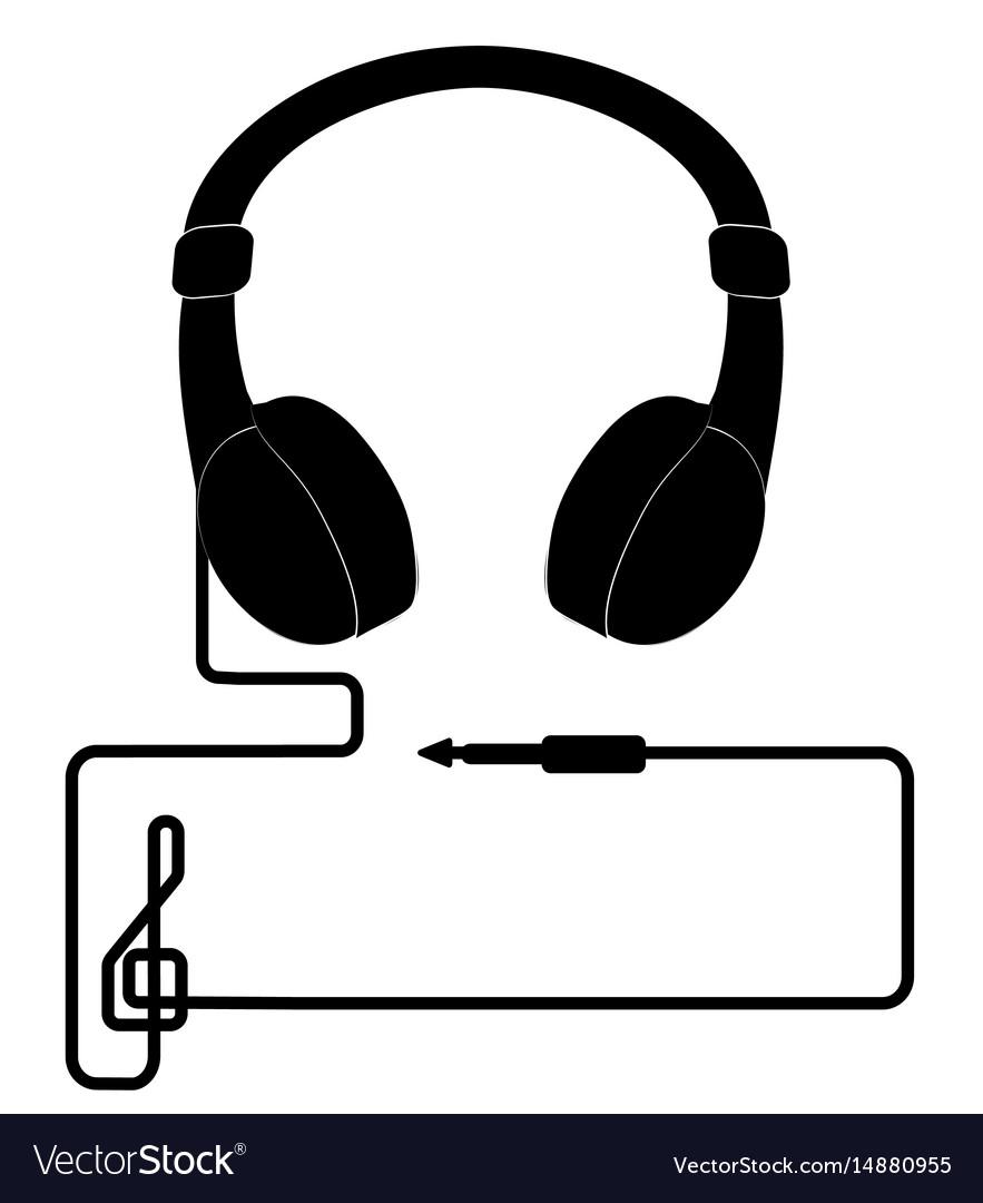 Headphone icon headphones with cord