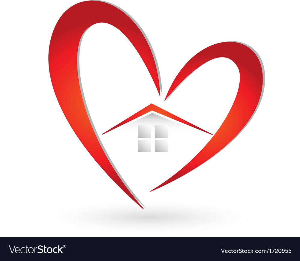 Astounding Abstract Heart Logo House Vector Images Over 1 000 Home Remodeling Inspirations Genioncuboardxyz