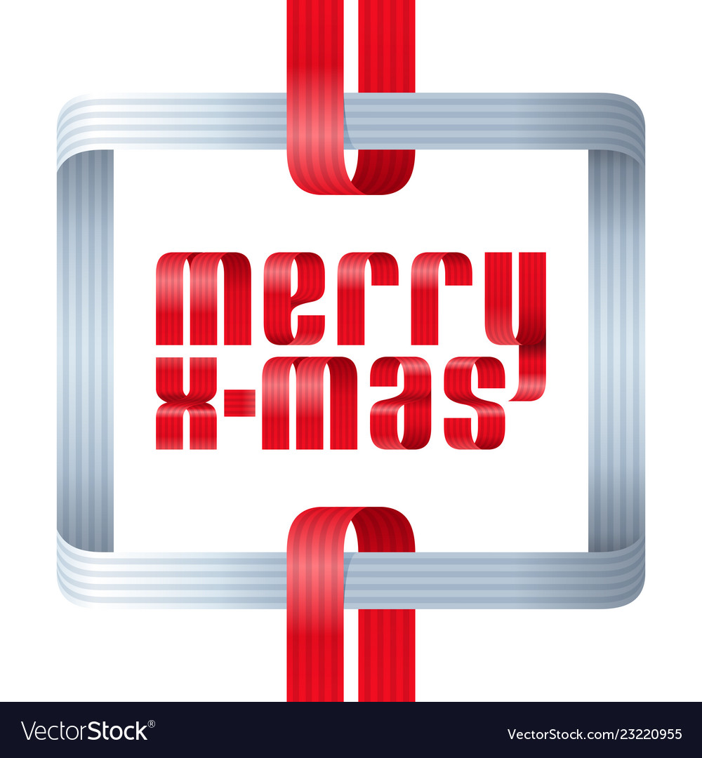 Merry christmas celebration typography background vector