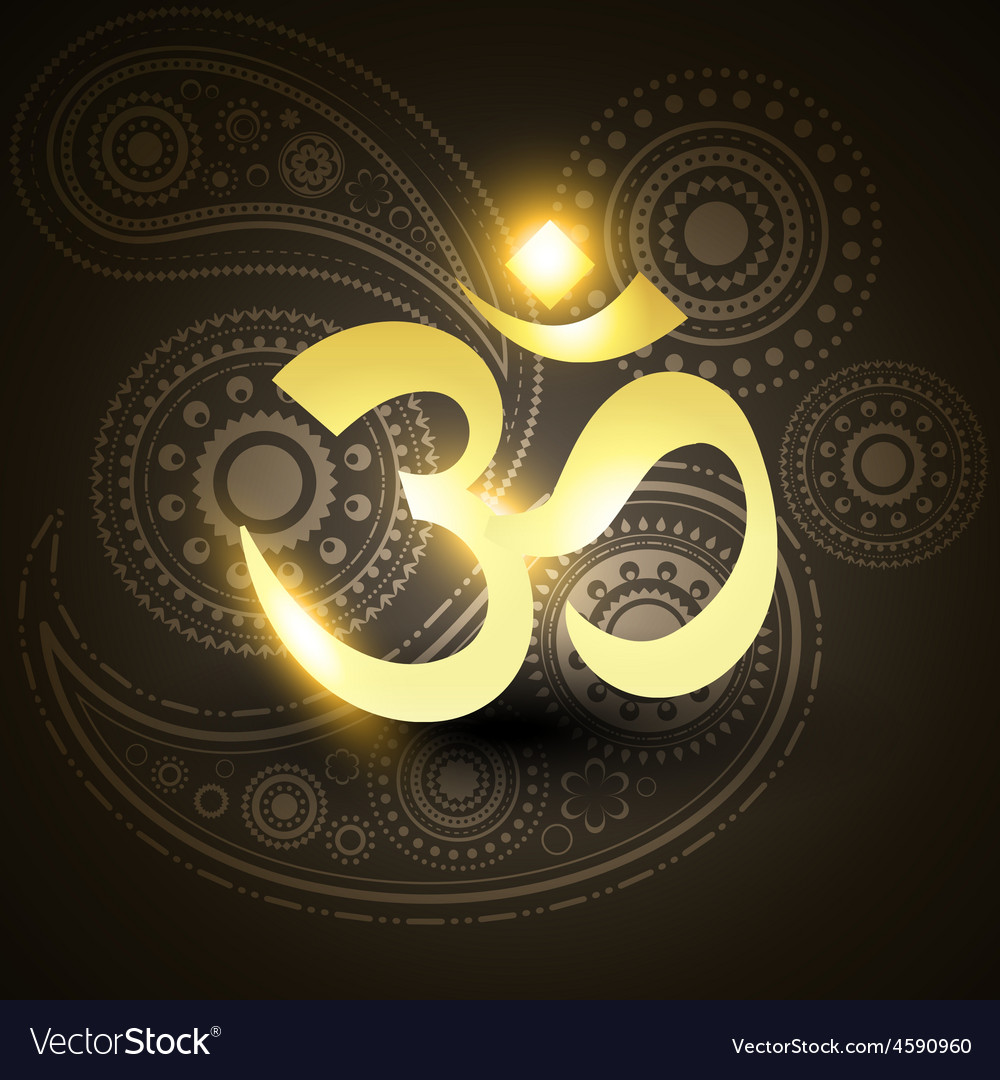 Beautiful Golden Om Symbol Royalty Free Vector Image