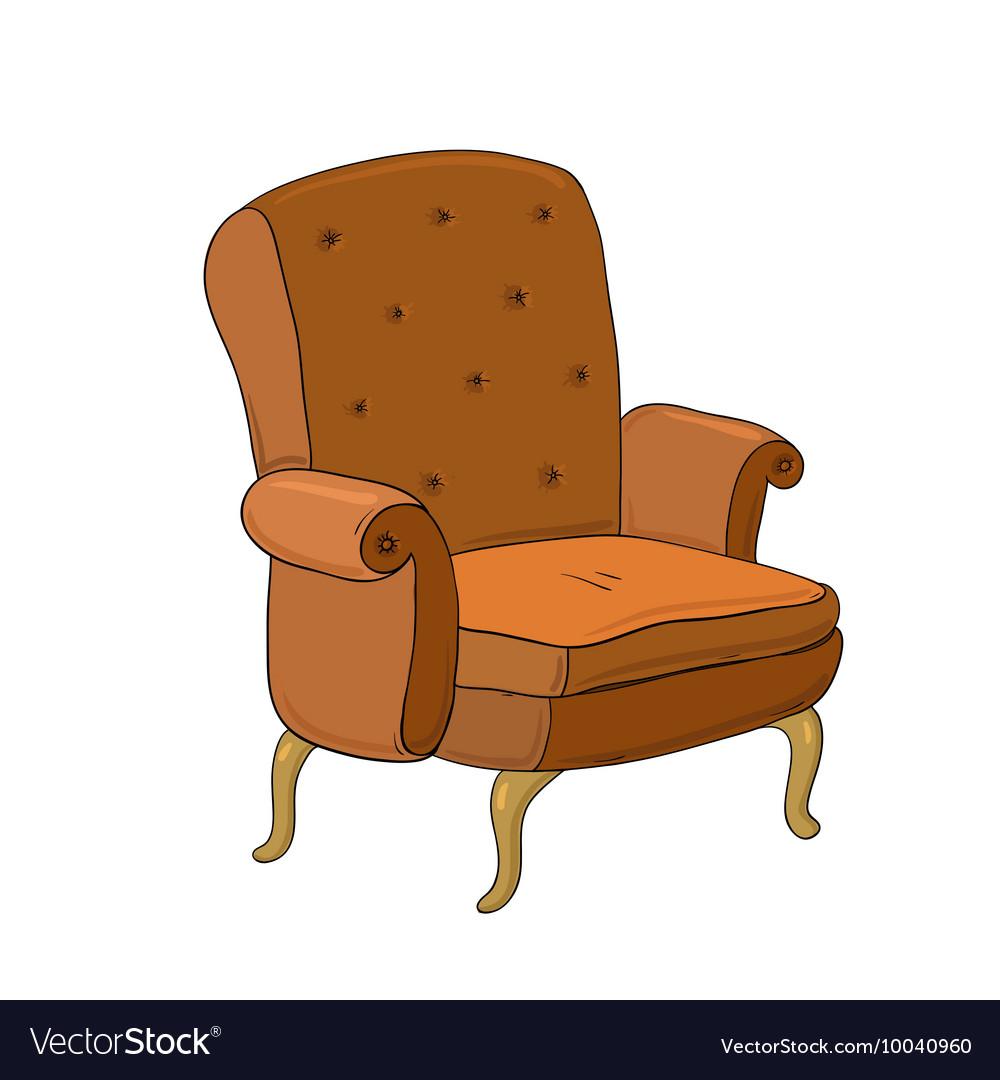 Beautiful vintage brown chair