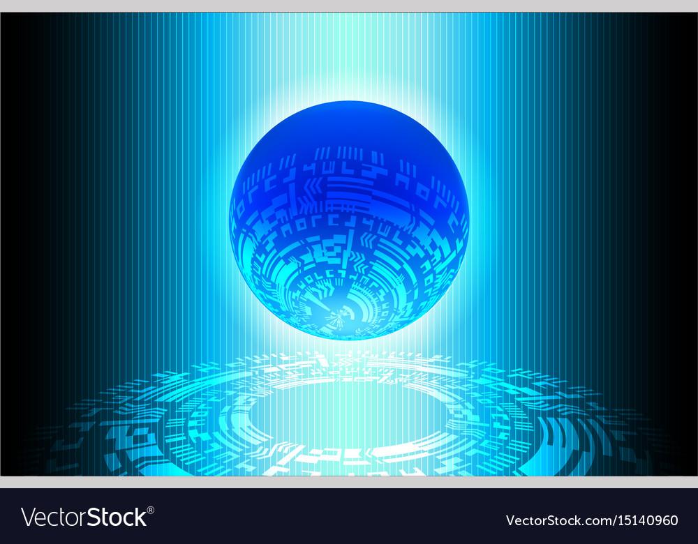 Blue world future technology background vector image