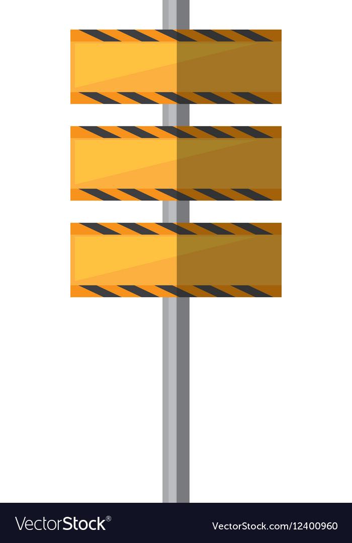 Cartoon barrier under construction road vector image