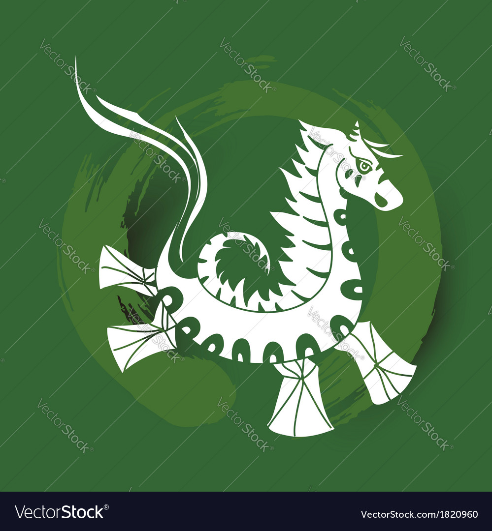 chinese zodiac happy new year of the horse vector image
