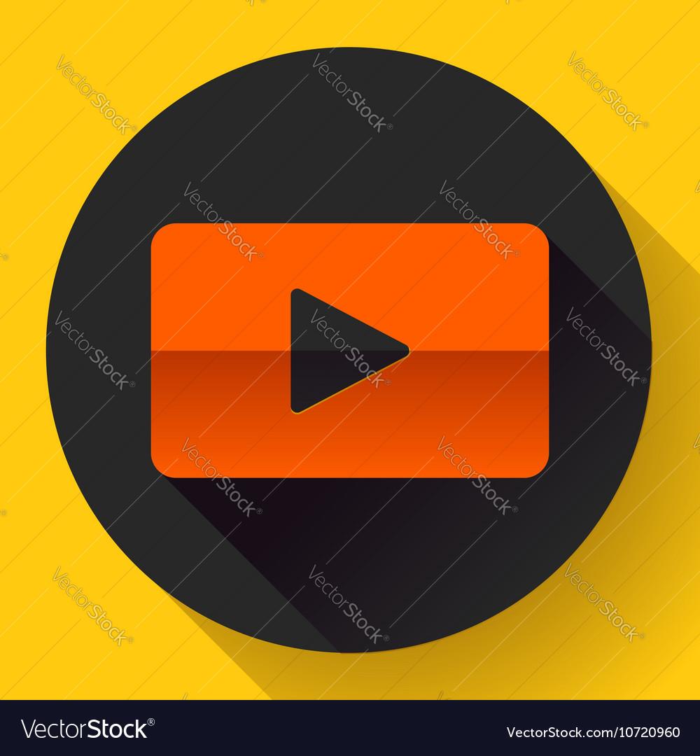 Flat video play player icon botton