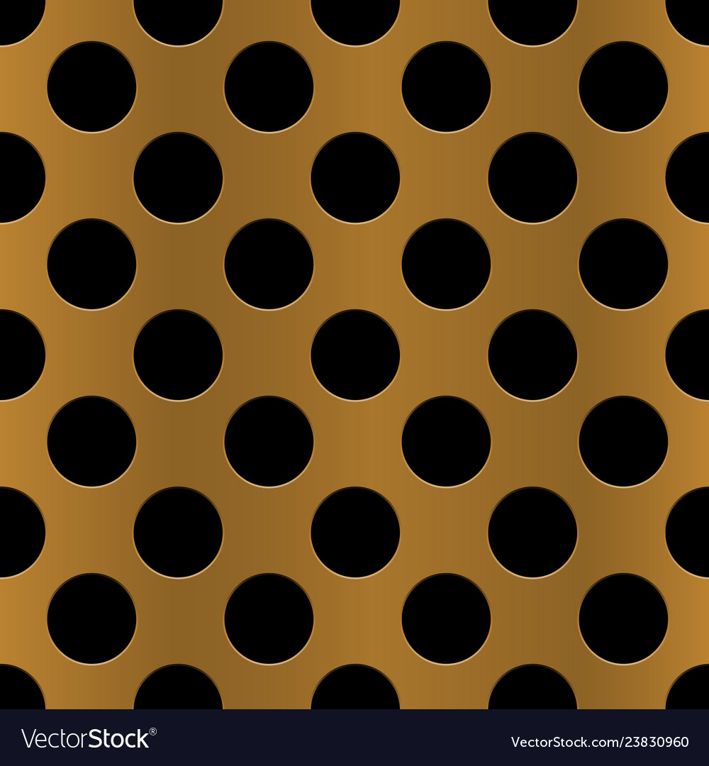 Golden perforated metal seamless background