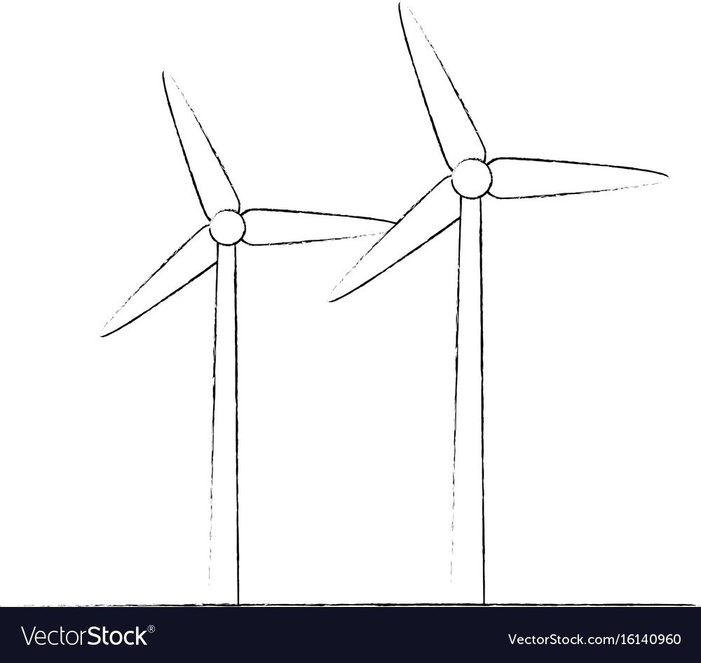Wind Turbine Sketch Vector Images 80 Mill Diagram