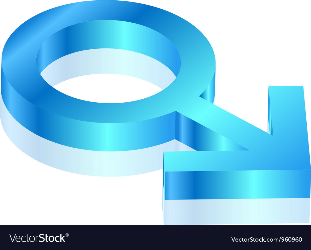 Male sign vector image