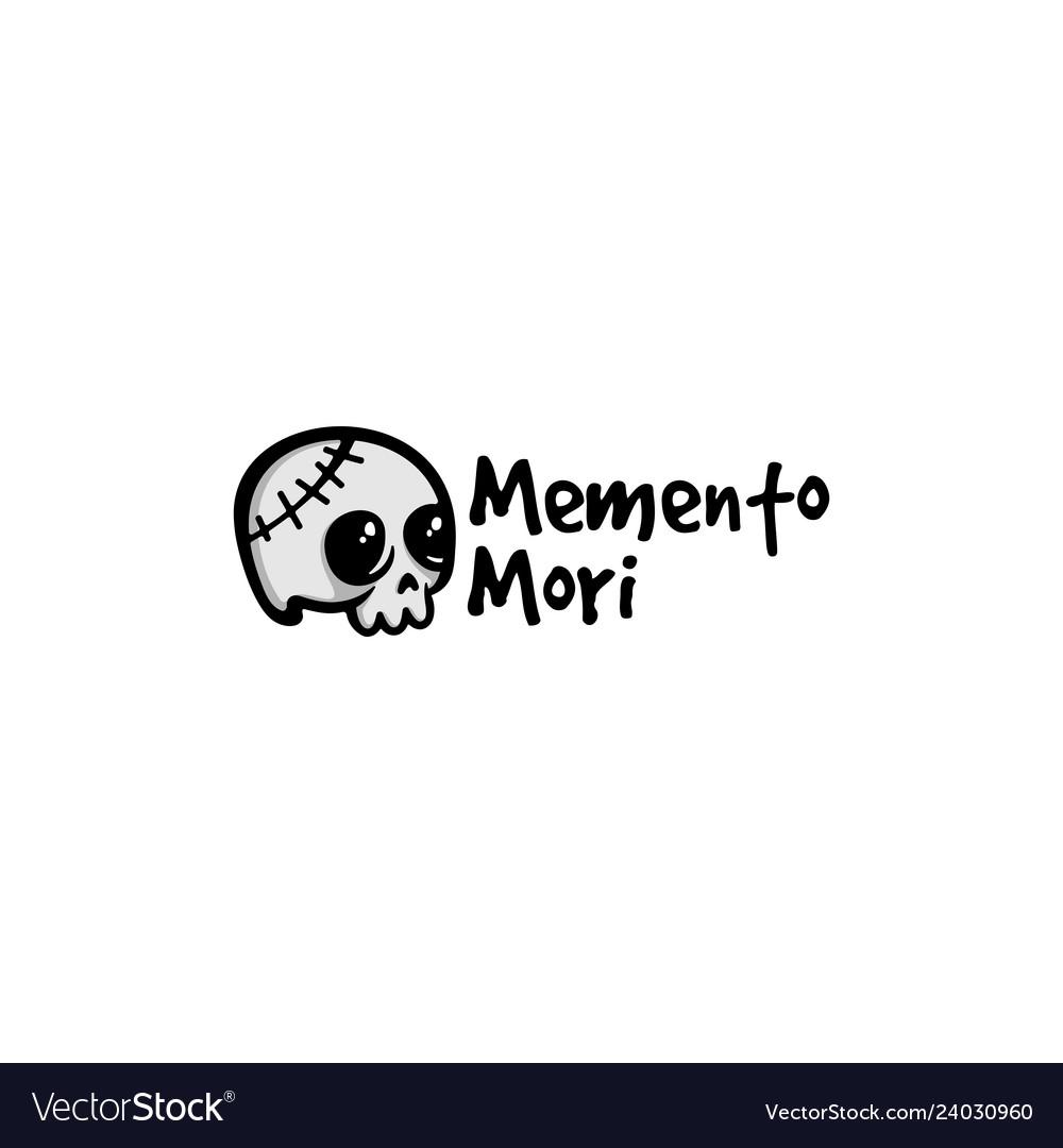Memento mori skull logo