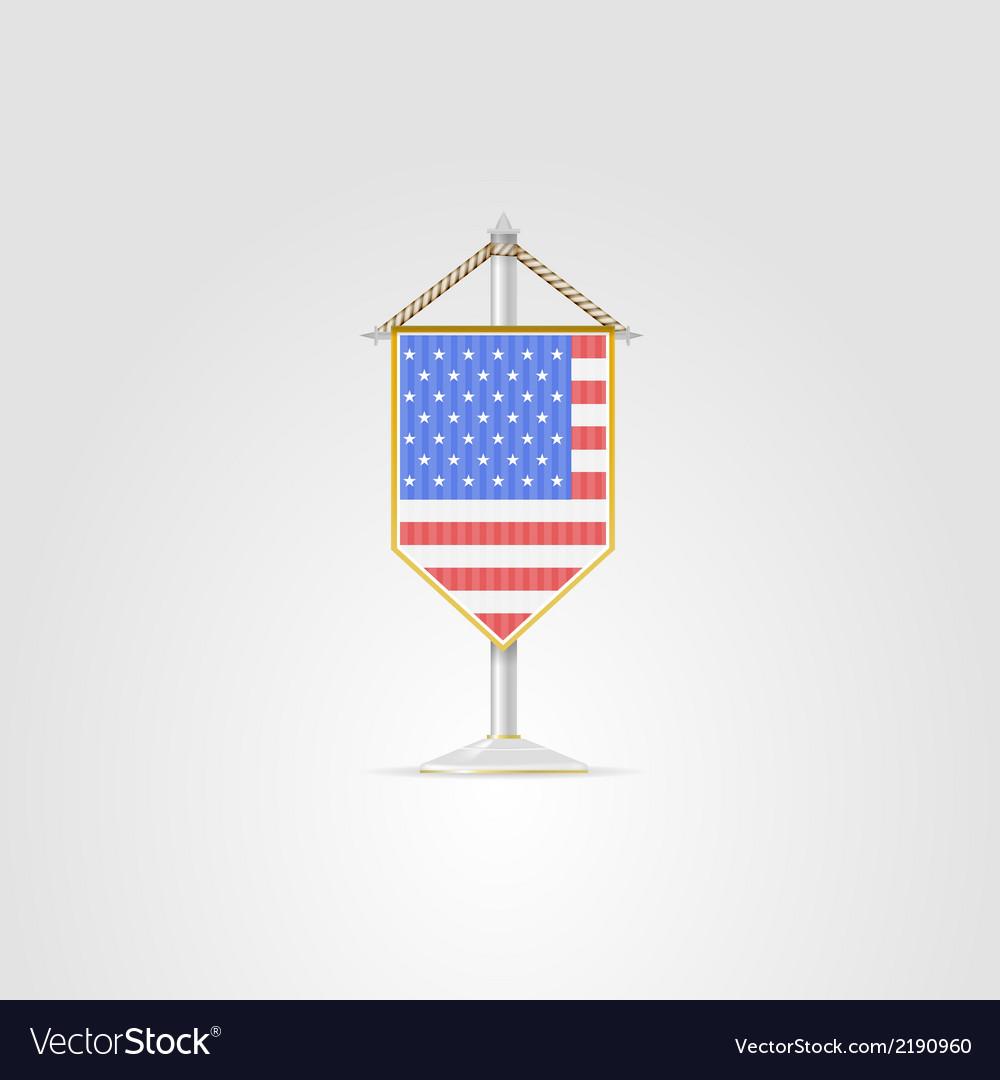 National Symbols Of North America Countries Usa Vector Image