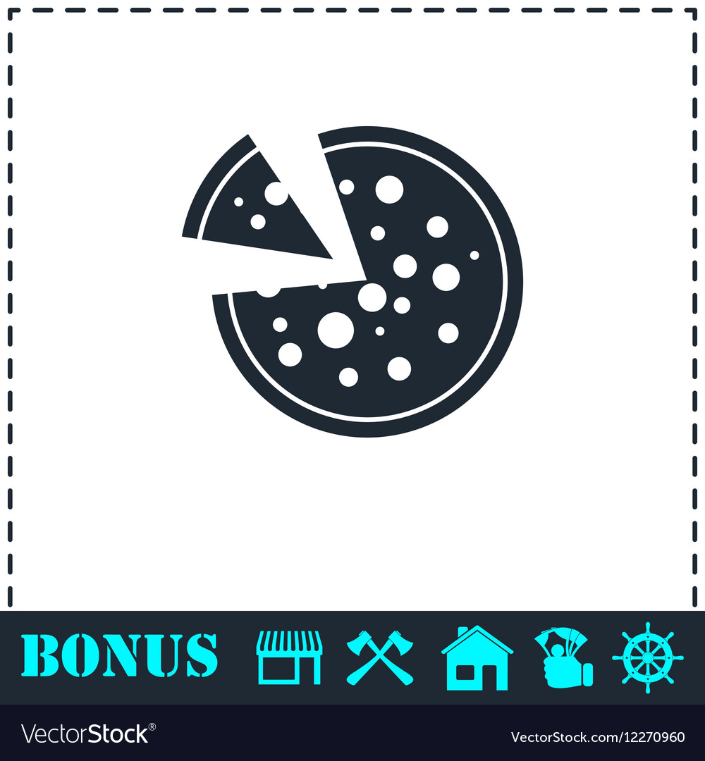 Pizza icon icon flat