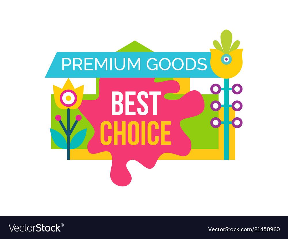 Premium good best choice sale emblem flower