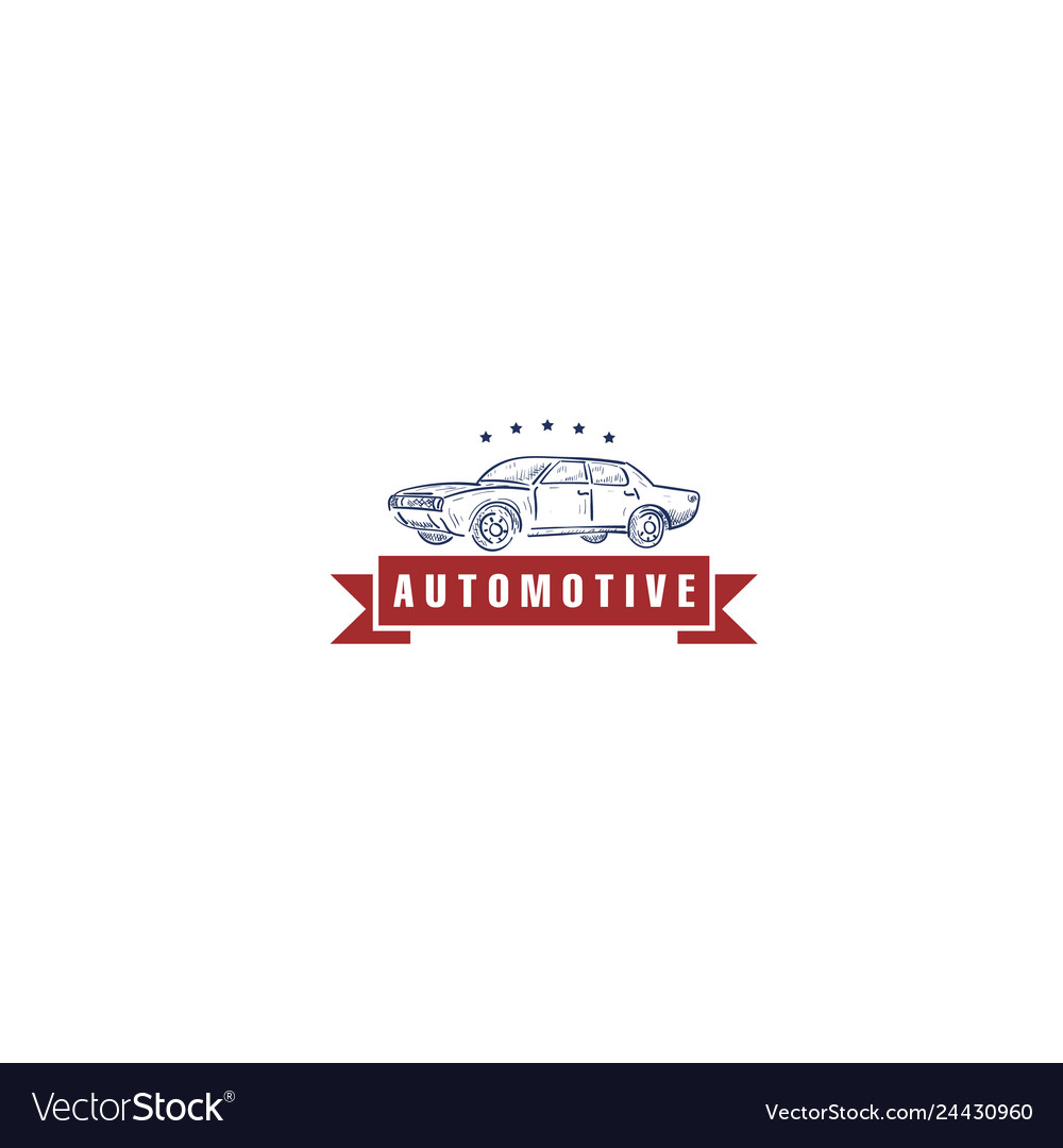 Vintage automotive logo designs