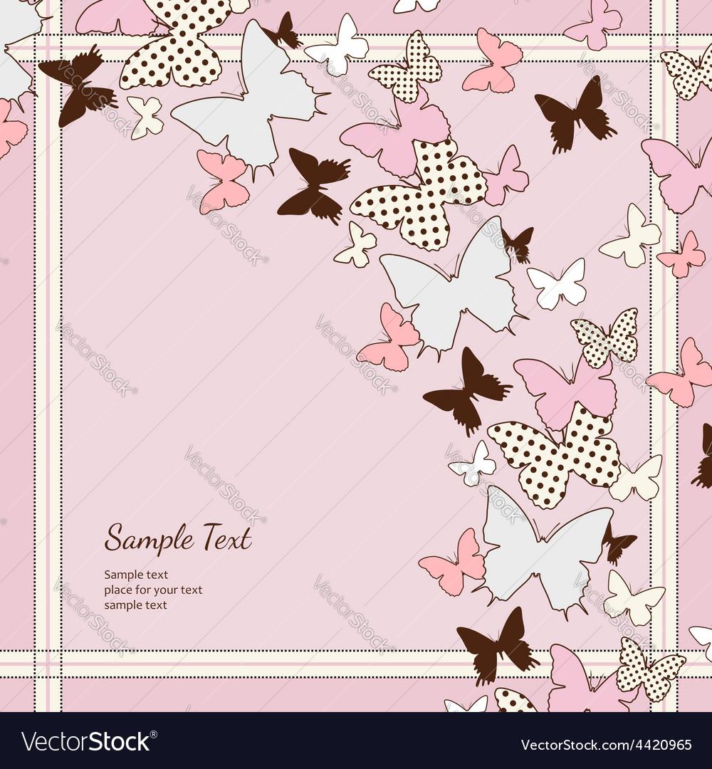 Background pink butterflies
