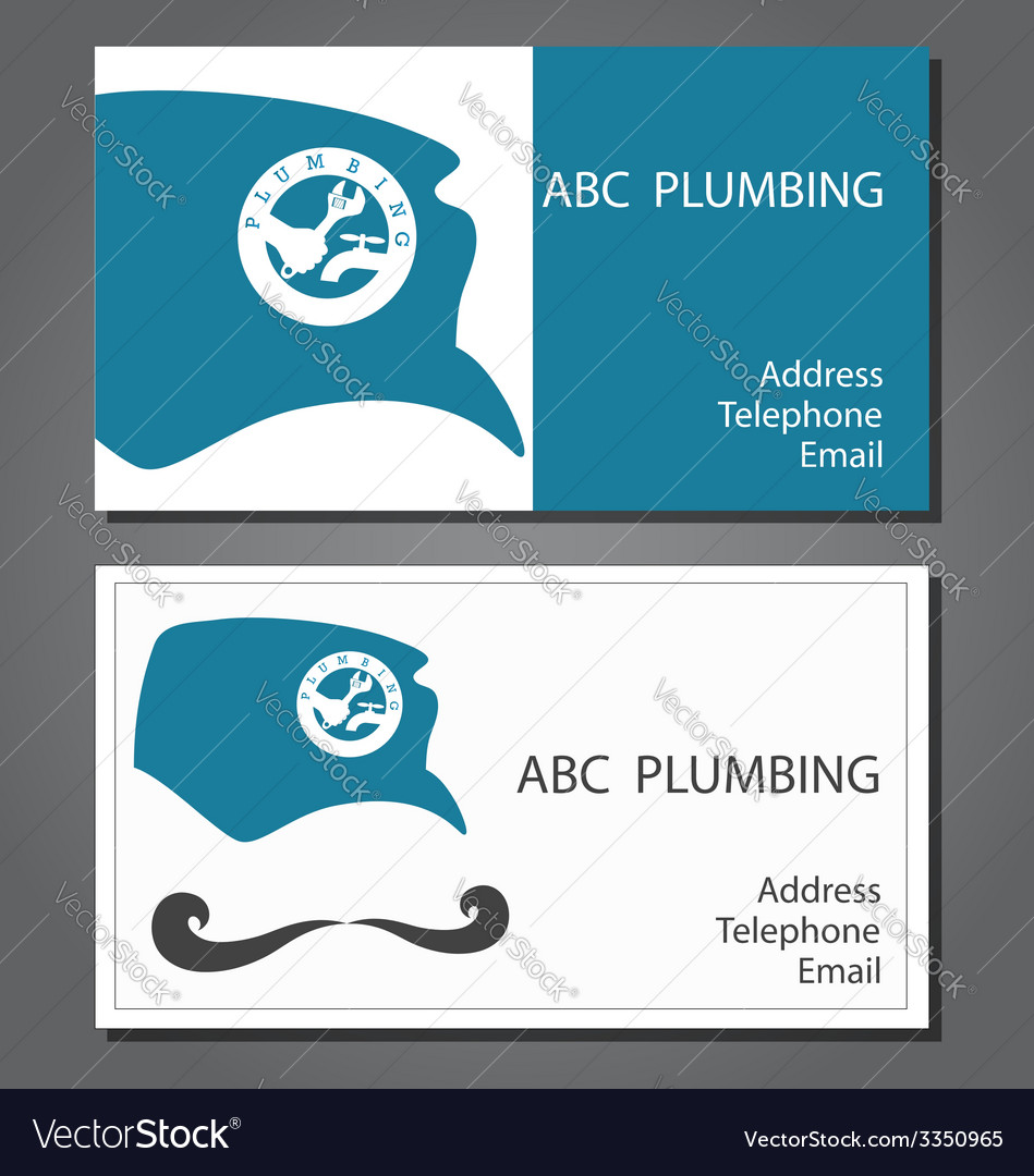Business card for repair plumbing royalty free vector image business card for repair plumbing vector image colourmoves