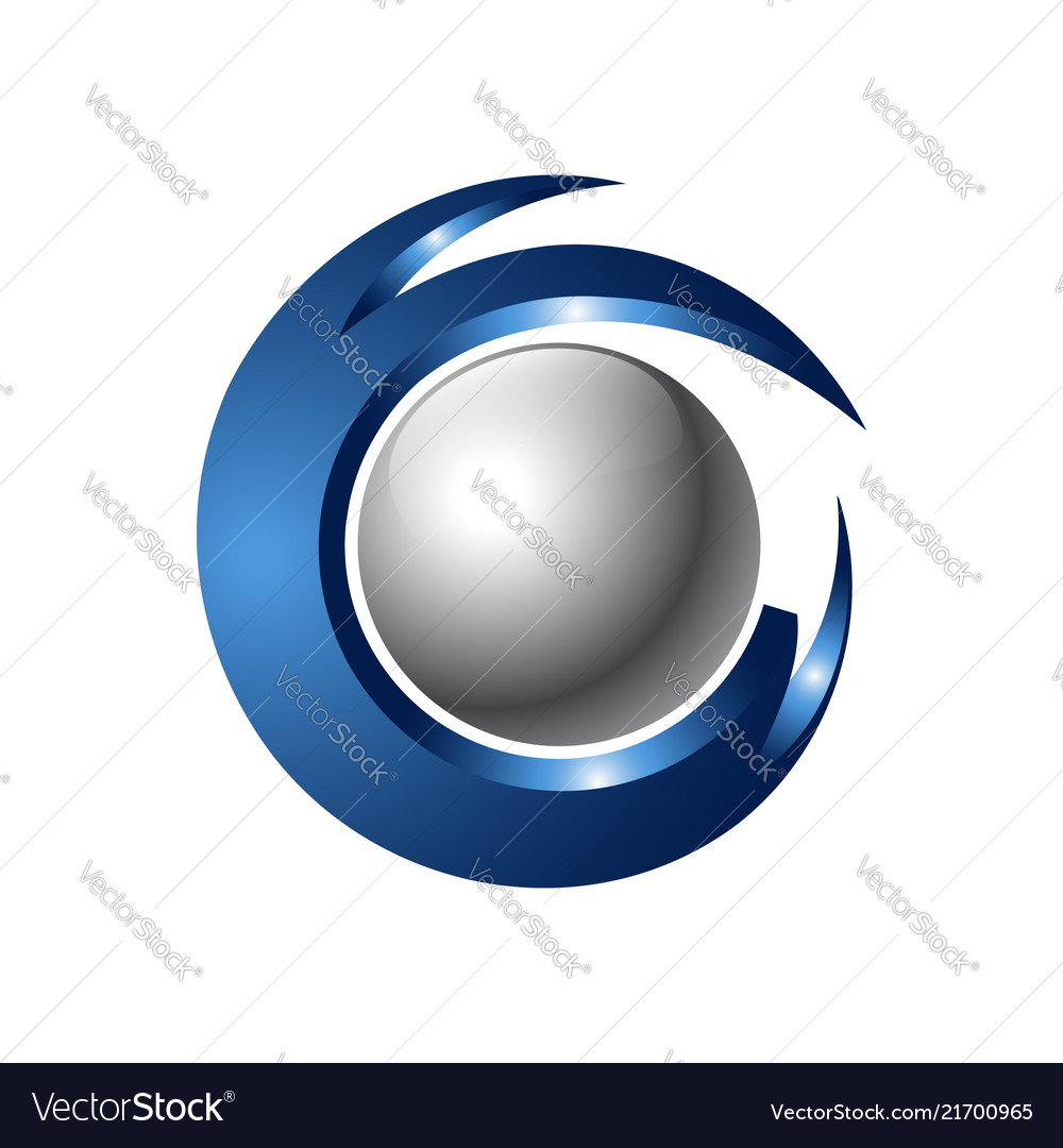 Creative abstract 3d orbit sphere logo design