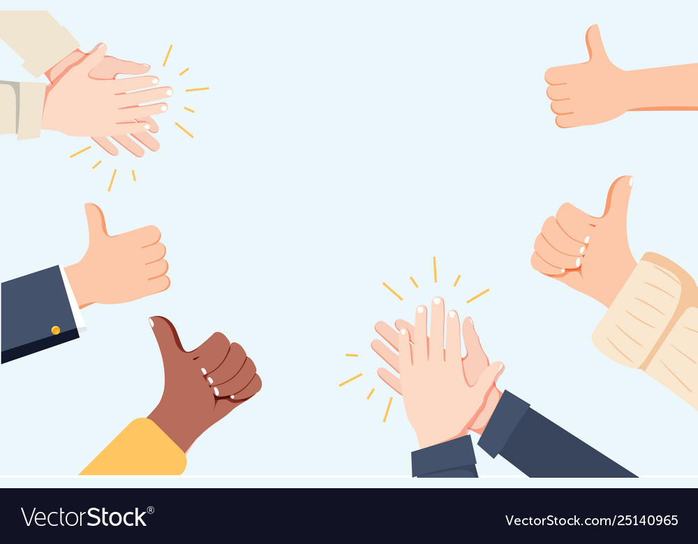 Human Hands Clapping Applaud Hands Royalty Free Vector Image Can i make your hands clap beat saber. vectorstock