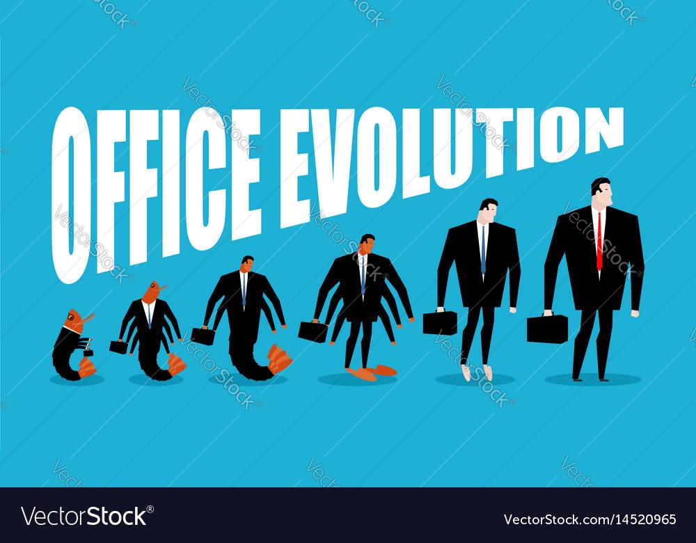 Office evolution office plankton turns into boss vector image